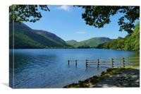 A Calm Day on Buttermere                         , Canvas Print