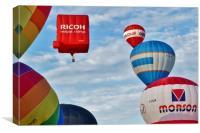 Hot-Air Balloon Stack                            , Canvas Print