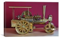 Model Steam-Roller                               , Canvas Print