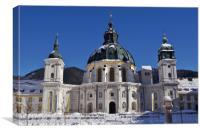 Kloster Ettal in Winter                     , Canvas Print
