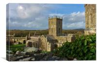 St Davids Cathedral, Bishops Palace & Gatehouse   , Canvas Print