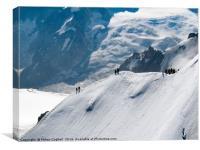Mont Blanc, Chamonix, Canvas Print