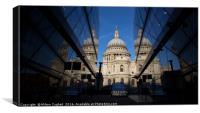 St Paul's Cathedral - Reflections, Canvas Print
