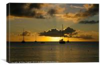 St Lucia Sunset 2, Canvas Print