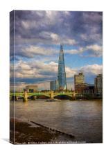 The Shard and Southwark Bridge, Canvas Print