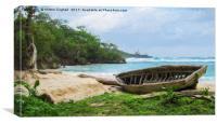 Beach in Port Antonio 1 - Digital Art, Canvas Print