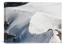 Snow Trekking, Canvas Print