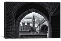 Big Ben, Westminster, London - B&W, Canvas Print