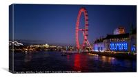London Eye At Dusk, Canvas Print