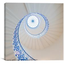 The Tulip Spiral Stairs - Queen's House, Greenwich, Canvas Print