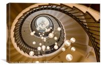Brewer Spiral Staircase - Ascent, Canvas Print