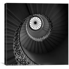 The Tulip Spiral Stairs - Dark, Canvas Print
