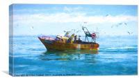 Argentine Fishing Boat, Canvas Print