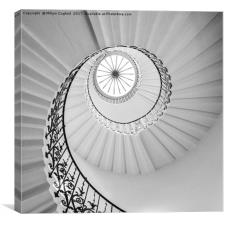 The Tulip Spiral Stairs - B&W, Canvas Print