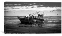 Argentine Fishing Boat - B&W, Canvas Print