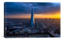 The Shard at Sunset, Canvas Print