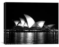 Sydney Opera House in Black & White, Canvas Print