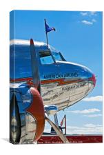 "American Airlines DC-3 ""Flagship Detroit"", Canvas Print"