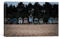 Beach Huts at Wells-next-the-Sea, Norfolk, Canvas Print