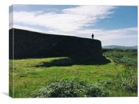 Ancient shadows of a Celtic ringfort in Kerry, Ire, Canvas Print