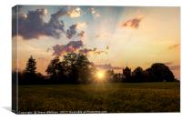 Last Rays of the Day, Canvas Print
