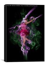 The Smoke Dancer., Canvas Print