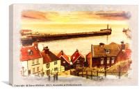 Yorkshire Coast - Whitby Steps, Canvas Print