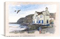 Yorkshire Coast - Staithes Harbour, Canvas Print