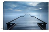 Long exposure Lifeboat Jetty, Lytham St Annes, Canvas Print