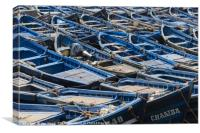 Fishing Boats Moored Up, Essouria Morocco, Canvas Print