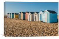 Beach Huts Southwold, Canvas Print