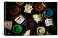 Paint Tins, Canvas Print