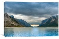Devils Gap Lake Minnewanka, Canvas Print