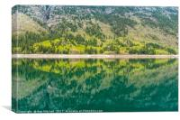 Reflections of Lake Minnewanka, Canvas Print
