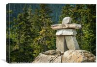 Inuksuk or Canadian Stone Man, Canvas Print