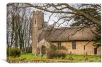 All Saints Church, Horsey, Norfolk, Canvas Print