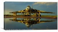Avro Vulcan Bomber, reflection., Canvas Print