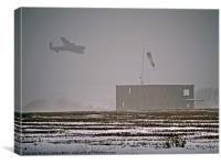 "Lancaster Bomber RAF  Composite Memorial Image "" F, Canvas Print"