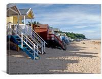 Beach Huts Wells next the Sea North Norfolk, Canvas Print