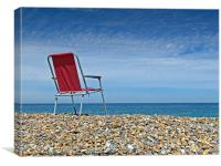 Red Chair on Weybourne Beach