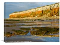 Hunstanton Layer Cake Cliffs North Norfolk, Canvas Print