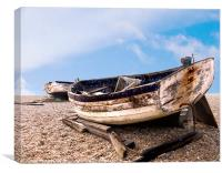 Old Derelict longshore fishing boats Aldburgh Suf