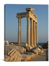 Temple of Apollo Side Turkey, Canvas Print