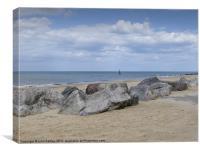 Rocks on Cart Gap Beach Norfolk, Canvas Print