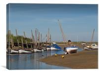Sail Boats  Blakeney  North Norfolk , Canvas Print