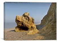 Rock Fall Weybourne North Norfolk, Canvas Print