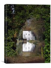 A Water Mill reflected in the mill pond