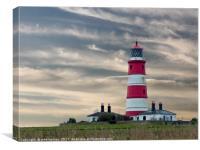 Happisburgh Lighthouse North Norfolk, Canvas Print