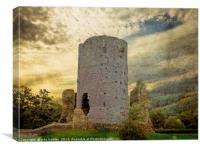 Crickhowell Castle Wales -  Composite Image Art Cr, Canvas Print