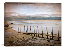 River Dovey Estuary Wales Creative art composite I, Canvas Print